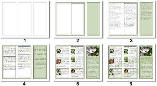 Lpg openoffice writer libreoffice creating a 3 panel for 4 column brochure template